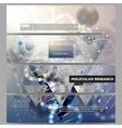 Set of modern banners DNA molecule vector image vector image