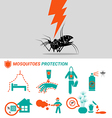 Set of Mosquitoes protection concept vector image vector image