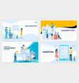 set social media marketing vector image vector image