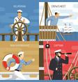 ship crew 4 icons concept vector image vector image