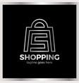 shop bag logo - letter s vector image