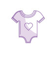 silhouette baby clothes that used to sleep vector image vector image