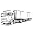 sketch drawing of truck vector image vector image