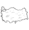 sketch of a map of turkey vector image