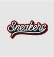 sneakers lettering logo sport shoes on background vector image