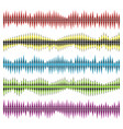 sound waves set vector image vector image