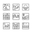 square simple icons vector image vector image