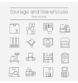 Storage line icons vector image
