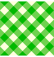 Tablecloth Pattern Green vector image vector image