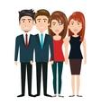 team group human resources teamwork design vector image