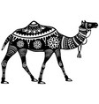 the stylized figure of decorative camel vector image vector image