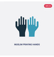 two color muslim praying hands icon from vector image vector image