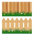Two fences from tree vector image vector image