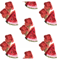 Watermelon and Ice cream pattern vector image vector image