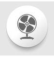 Web button - desktop fan vector image vector image