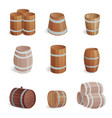 wooden barrel vintage old style oak storage vector image vector image