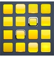 Yellow square high-detailed modern web buttons vector | Price: 1 Credit (USD $1)