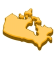 Canada map icon cartoon style vector image