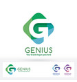 g letter logo g letter in harmony color rectangle vector image