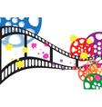 Background film vector image