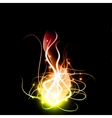 Abstract background with lighting effect vector image vector image