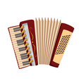 accordion musical instrument vector image vector image