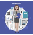 banner management and administration vector image vector image