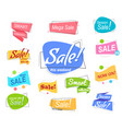 big set colored promotion banners flat speech vector image vector image