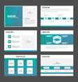 Blue Green presentation templates Infographic vector image