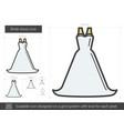 bride dress line icon vector image vector image