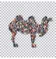 camel isometrick people 3d vector image
