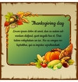 Card for thanksgiving day with vegetables vector image