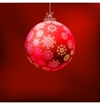 Christmas background with red ball EPS 8 vector image