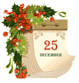 christmas tear-off calendar vector image