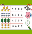 counting activity for kids vector image vector image