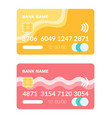 credit card with number and code plastic item vector image