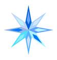 cute blue symbolic motley snowflake star vector image