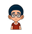 cute young man with glasses avatar cartoon style vector image vector image
