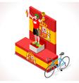 Cyclist Vuelta Winner Isometric People 3D vector image vector image