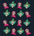day of the dead background vector image vector image