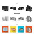 design of facade and housing symbol vector image vector image