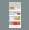 different products boxes packages and bottles on vector image