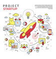 digital yellow and red startup business vector image vector image