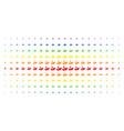 eco startup spectral halftone grid vector image vector image