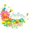 Flowers Spring Season Heading vector image