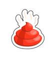 fun poop sticker vector image vector image