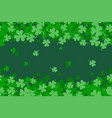 green clover abstract seamless background for st vector image