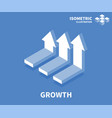 growth icon isometric template for web design vector image vector image