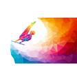 horizontal bar male gymnast in artistic gymnastics vector image vector image