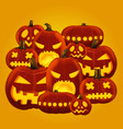 horror halloween pumpkin vector image